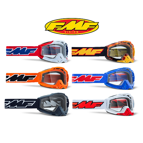 FMF POWERBOMB ADULT GOGGLES - CLEAR LENS