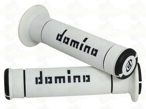 DOMINO DUAL COMPOUND TRIALS GRIPS WHITE/BLACK