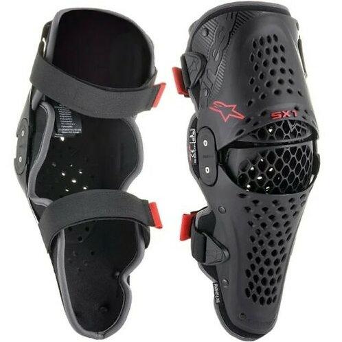 ALPINESTARS SX1 V2  KNEE GUARDS BLACK/RED