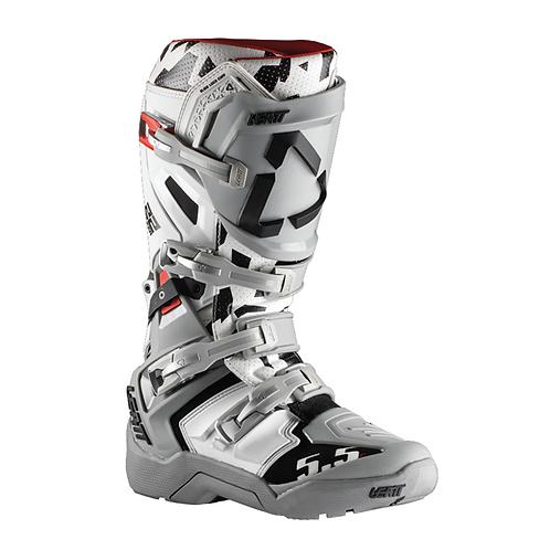 LEATT GPX 5.5 JW22 ENDURO BOOTS - WHITE/GREY