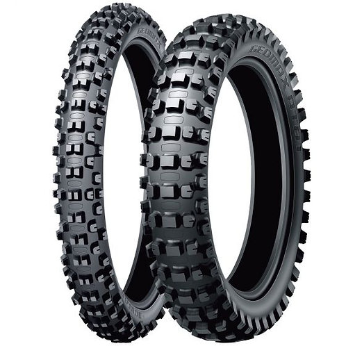 PAIR OF DUNLOP AT81 GEOMAX ENDURO/CROSS COUNTRY TYRES 90/90-21 110/90-18