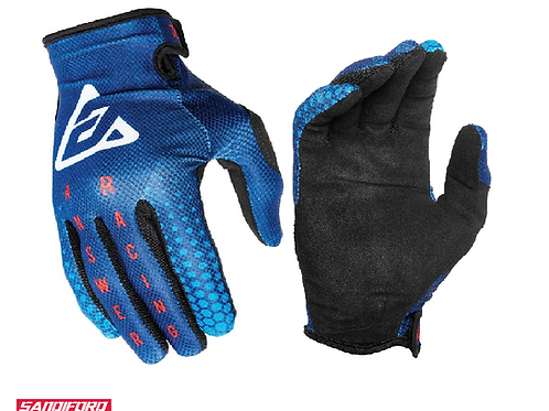 2021 ANSWER AR1 SWISH GLOVES - BLUE/RED/BLACK
