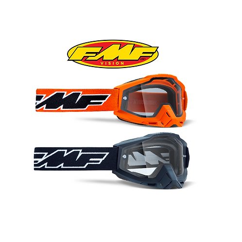 FMF POWERBOMB ENDURO GOGGLES - DUAL CLEAR LENS