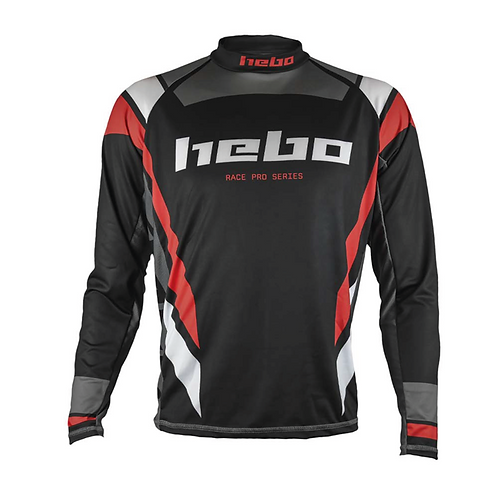 2021 HEBO PRO JERSEY - BLACK/GREY/RED