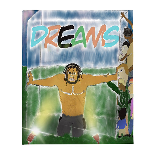'Protect Your Dreams' Throw Blanket