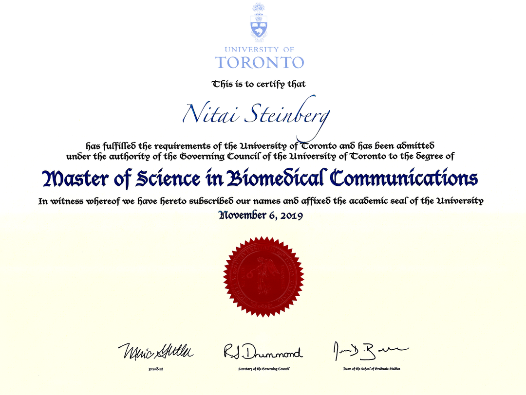 University of Toronto MSc in Biomedical Communcations