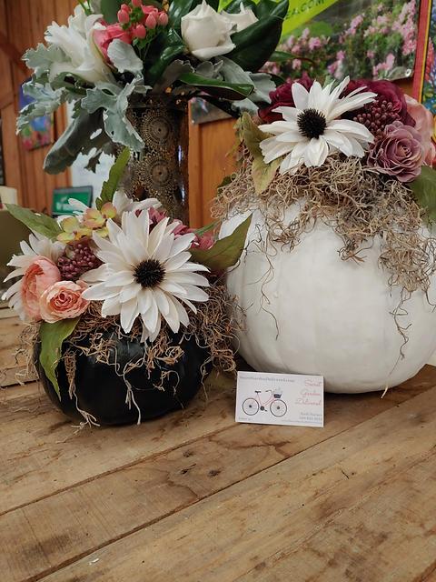 custom fall decor flowers