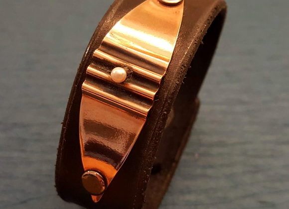Copper & Pearl cuff