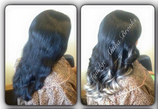 Rooted Ombre Silver/Granny Grey U-Tip Hair Extensions
