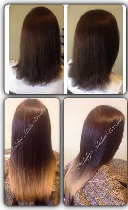 Clip in ombre hair extensions on active-