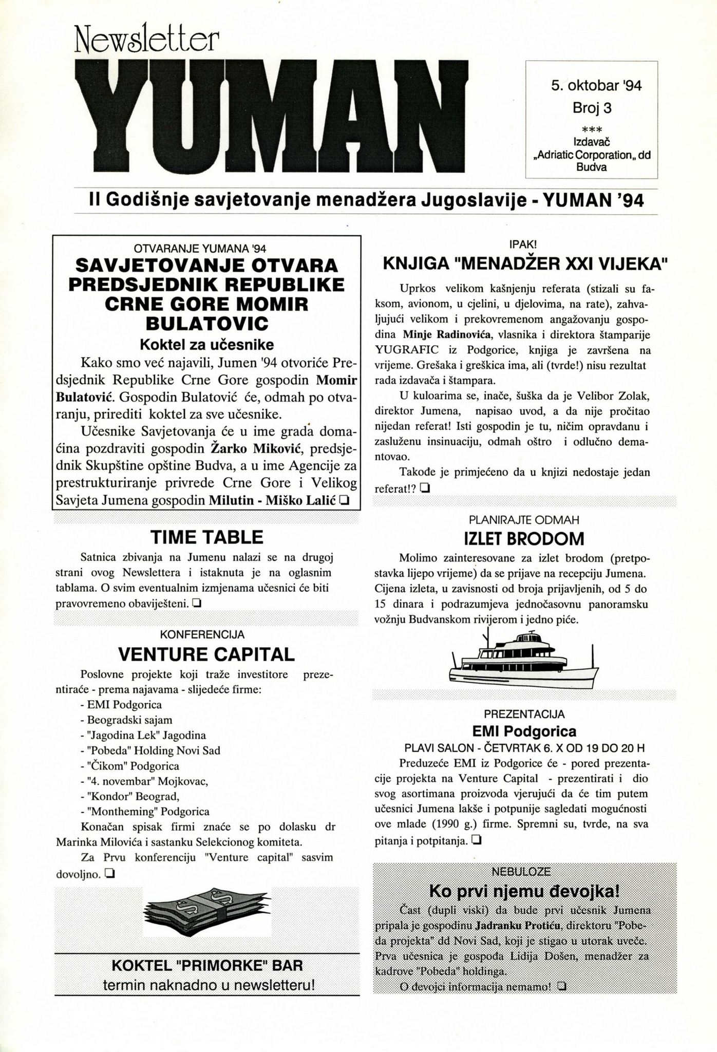 94 YUMAN  Newsletter 001 SMALL