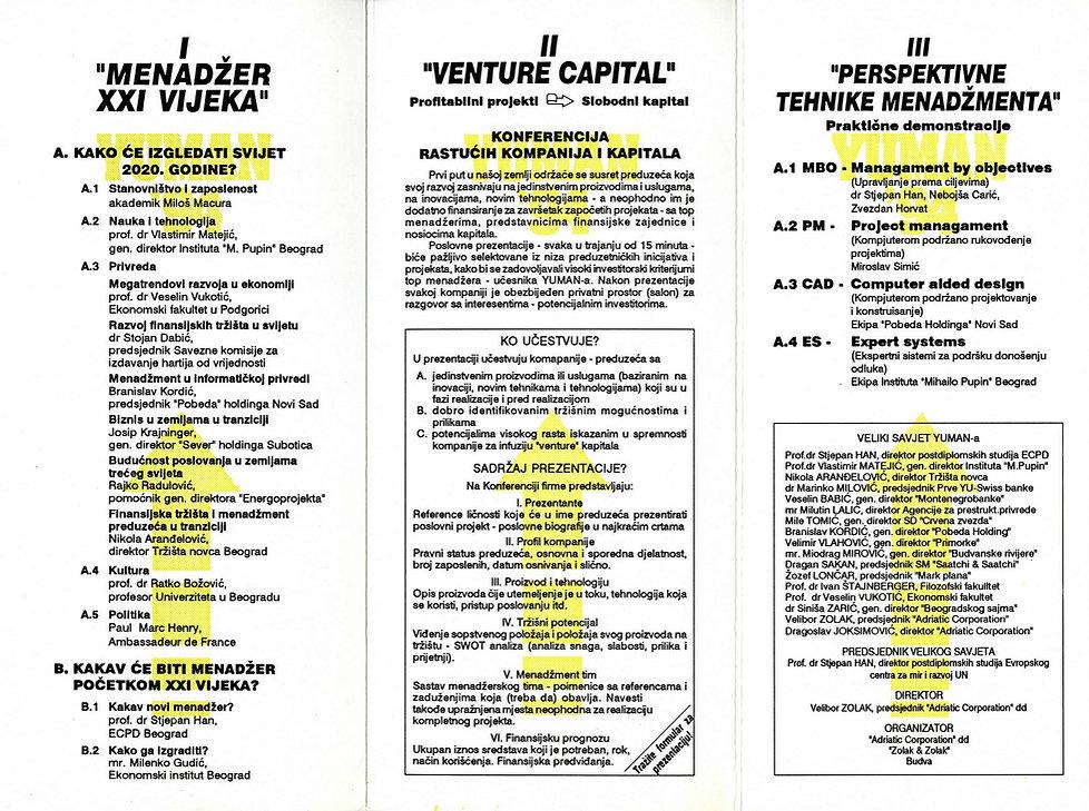 YUMAN Conference '94 Program