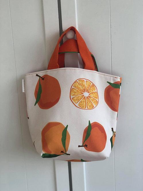 """Petit Sac Cabas porté main """"Oranges"""""""