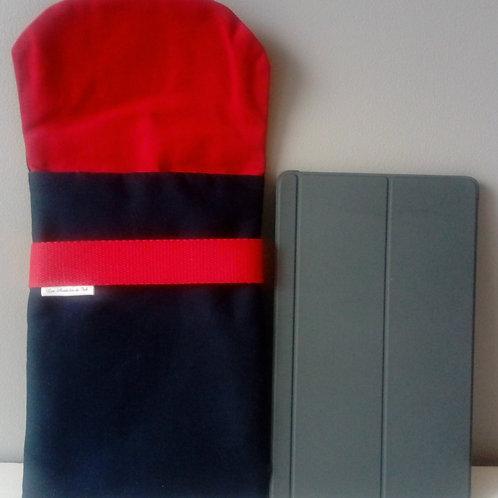 """Housse tablette """"Marine et Rouge"""""""