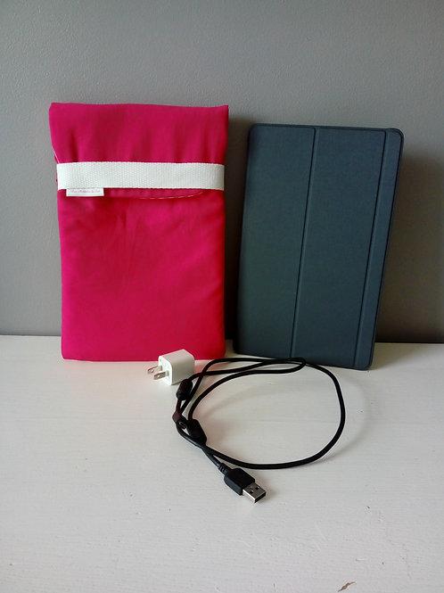 "Housse tablette ""Rose et Rayée rose et blanc"""