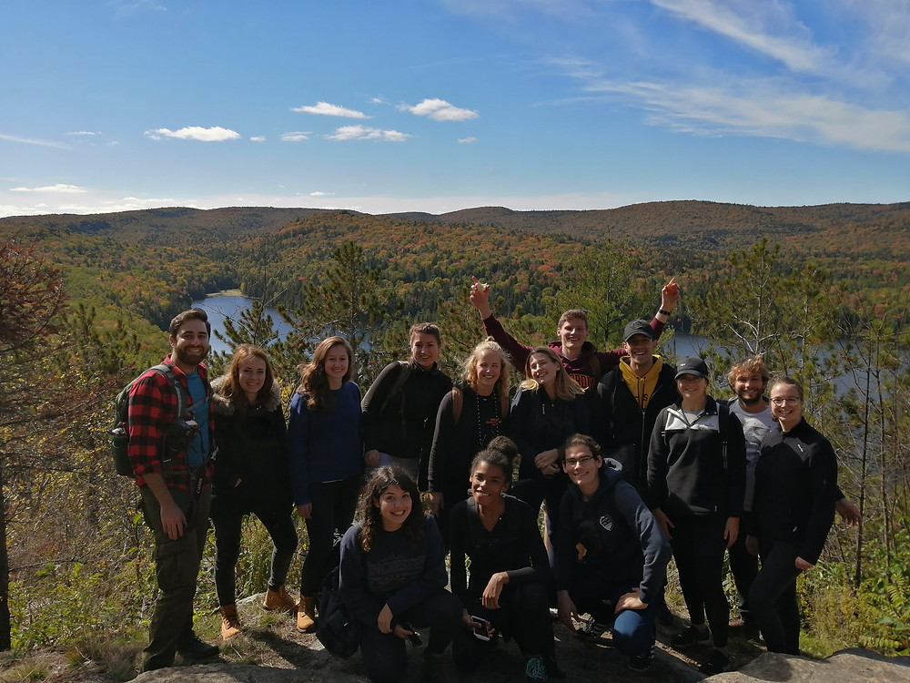 Group of hikers at La Mauricie