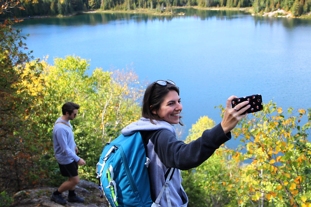 Snapping a pic at La Mauricie