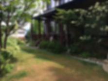 木島平ペンション山の家陶の屋根付きテラス