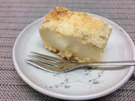 クランブルチーズケーキとこねないパン