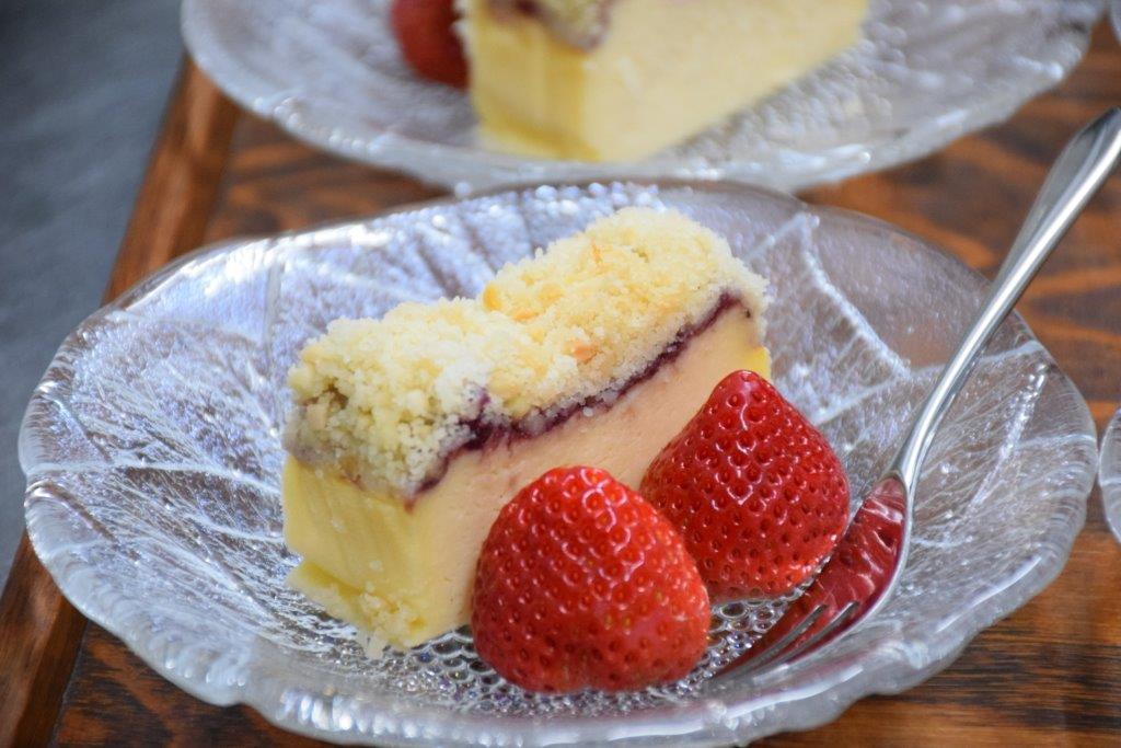 クランブルチーズケーキ