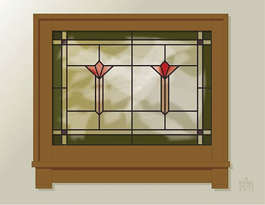 Stained Glass, Brown