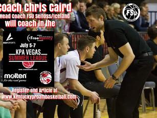 Coach Chris Caird (Head Coach FSU Selfoss Iceland) Added to KPA Vegas Pro Summer League Coaching Sta