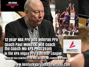 Former NBA Standout and Veteran Pro Coach Paul Mokeski will Coach at the KPA