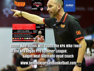 Coach Kyle Julius will Coach at the KPA Vegas Pro Summer Leage