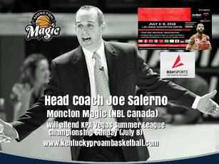 Coach Joe Salerno will attend KPA Vegas Pro Summer League Championship Sunday