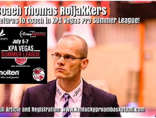 Coach Thomas Roijakkers Returns to Coach in KPA Vegas Pro Summer League