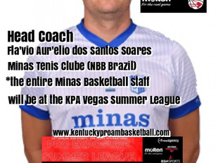 Minas Tenis Clube (NBB Brazil) Staff will be at the KPA Vegas Summer League