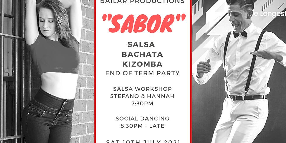 """SABOR""  - Salsa Bachata Kizomba Dance Party T4"