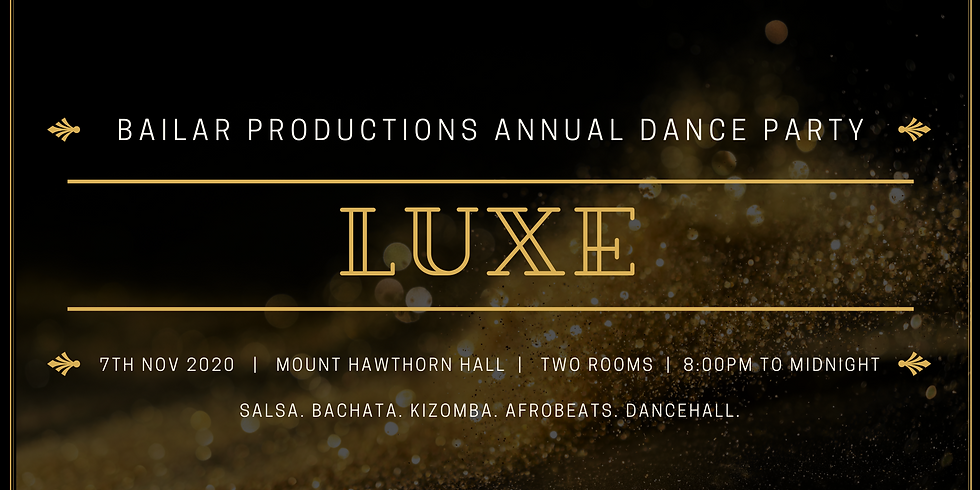 LUXE Afro Latin Dancehall Party