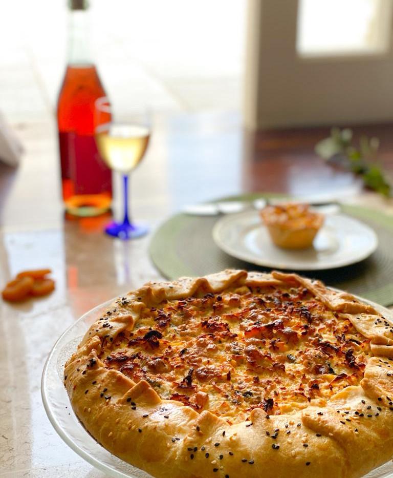 Torta Rústica de Frango flambado no Whis