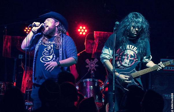 Trey Duncan, Gone Country Cowboy Hat, Metallica Shirt, Pantera Shirt, Matt Malphrus, Drums, Singing, Leo Santana, Strandberg Boden, Headless Electric Guitar, Kings Ransome, Electric Guitar Rock Band, Ground Zero