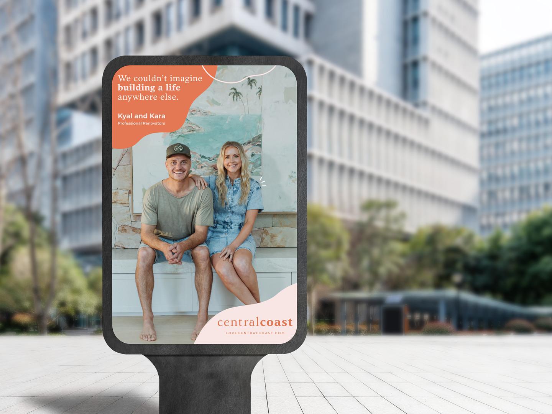 City Street Outdoor Advertisement Vertic