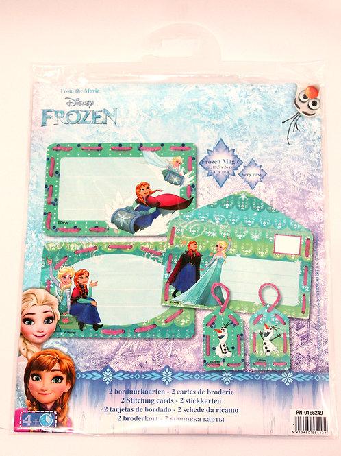Cartes de broderie Disney Anna Elsa Olaf La Reine des Neiges