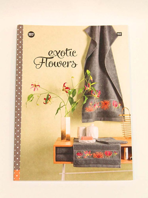 Livre Broderie Point de Croix Exotic Flowers