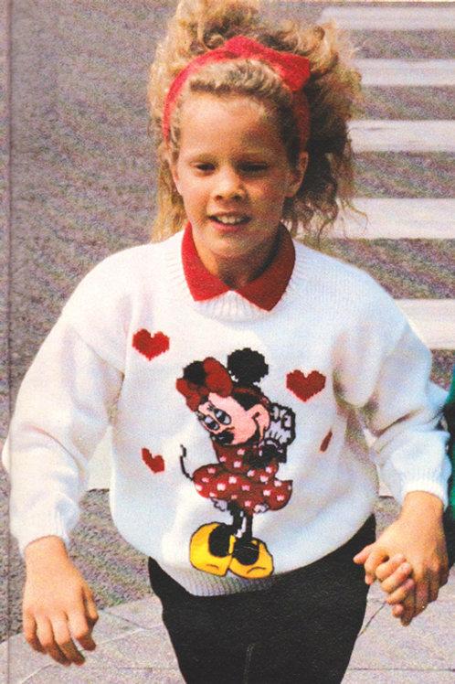 Explication Pull Tricot Disney Minnie Coeurs Enfant