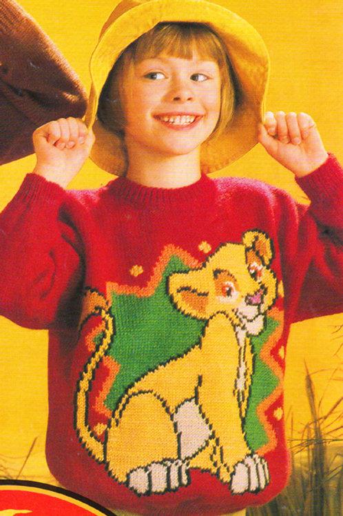 Explication Pull Tricot Disney Kiara Le Roi Lion