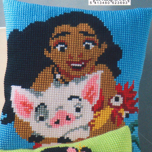 Coussin Canevas Disney Vaiana Cross Stitch Disney Moana