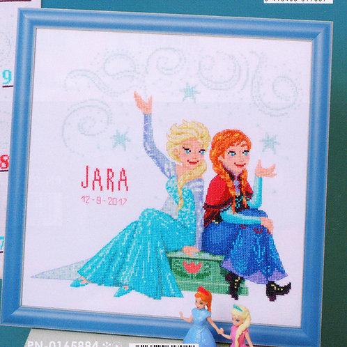 Point de Croix Disney La Reine des Neiges Frozen soeurs