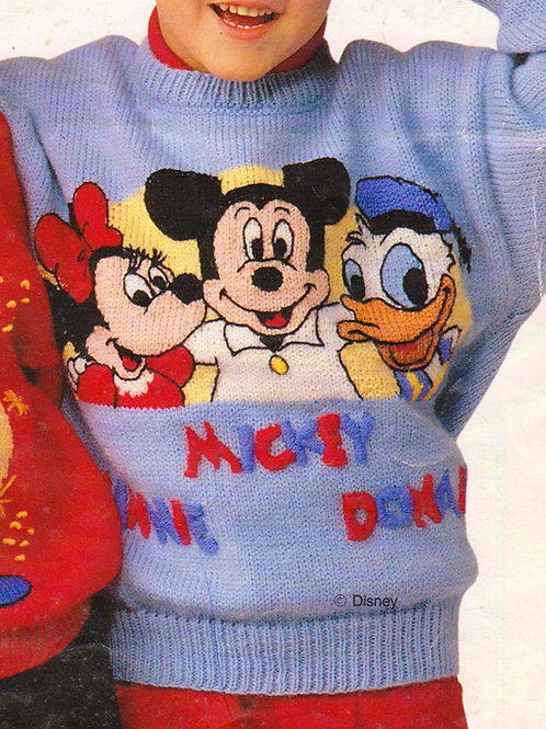 Explication Pull Tricot Disney Minnie Mickey Donald
