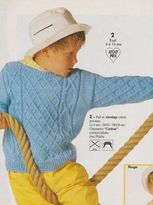 Explication Pull irlandais droit torsades pour enfants