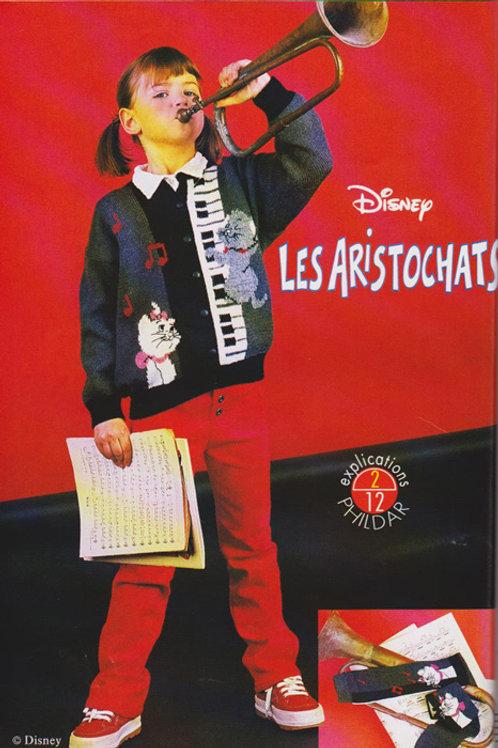 Explication Gilet Tricot Disney Les Aristochats Berlioz Marie Toulouse