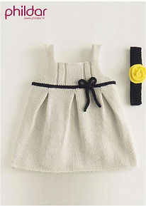 Robe bébé layette Phildar