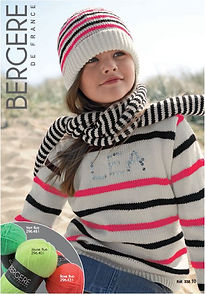 pull tricot enfant fille jersey à rayures barisienne