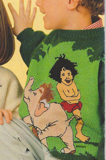 Explication Pull Tricot Disney Le Livre de la Jungle Mowgli et Junior