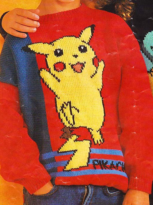 Explication Pull Tricot Pokemon Pikachu