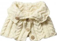 cape tricot chauffe épaules point irlandais